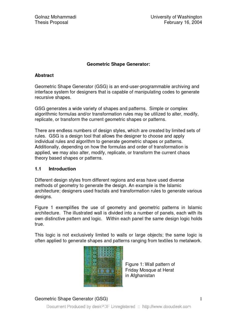 Geometric Shape Generator   Fractal   Pattern