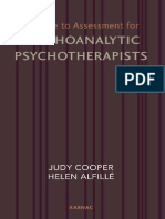 -Assessment for Psychoanalytic psychoterapists