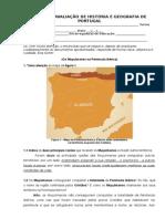 Correção Do Teste de Avaliação de História e Geografia de Portugal 2op 1o Teste
