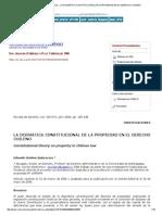 Revista de Derecho (Valdivia) - La Dogmática Constitucional de La Propiedad en El Derecho Chileno
