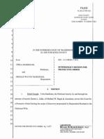 12 Twila Markham v Gerald Markham PET MOT Protective-Order 13-3-08383-7 SEA