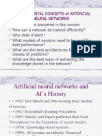 FUNDAMENTAL CONCEPTS of ARTIFICIAL NEURAL NETWORKS