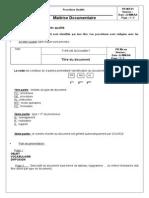 Structure Des Documents Qualité