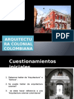 Arquitectura Colonial Colombiana
