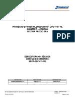 BPPE-ESP-CO- 002 Rev.0, Desfile de Cañerías