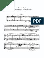 Ravel Pavane Flute Part