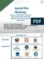 CDG-Beyond the Beltway 2015 - Treasury CIO March 9 Keynote Presentation - S. Bhagowalia