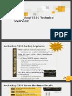 NetBackup-5330 Appliance Hardware Specifications