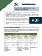 Metro Program Overview