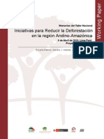 Iniciativas Para Reducir La Deforestacion Andino Amazonica