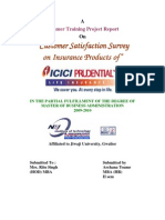 Customer Satisfaction on ICICI Prudential