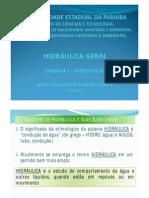 HIDRAULICA (INTRODUCAO)