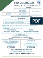 Curso de Compresión de Textos en Inglés 2015 2