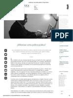 ¿Militarizar como política pública_.pdf