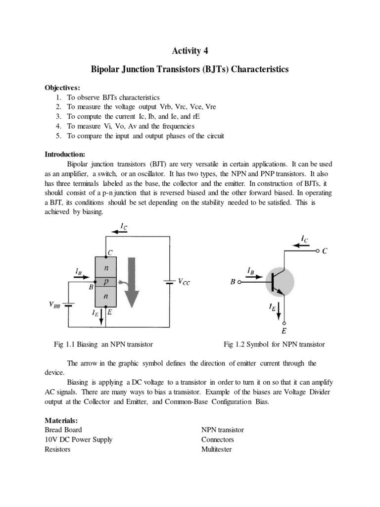 Bipolar Junction Transistor Amplifier Npn Wiring Diagram
