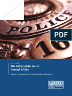June 2009 The Crisis Inside Police Internal Affairs - A.C.L.U.