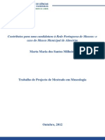 Contributos Para Uma Candidatura à Rede Portuguesa de Museus - o Caso Do Museu Municipal de Almeirim