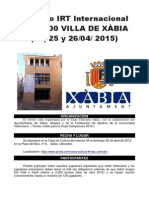 i Irt Internacional Sub-2200 Villa de Xabia 2015