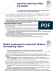 Elearning Demand and Needs