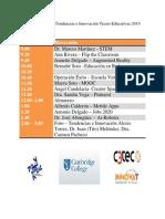 Agenda Tendencias e Innovación Tecno-Educativas