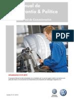 Manual de Garantía Política VW