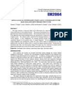 Application of Supervisory Fuzzy Logic Controller to the Base-Isolated Benchmark Structure