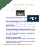 Objetivos Metas y Principios de La Educacic3b3n Ambiental