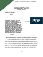 3/4/15 plaintiff response to defendant Kyle French's motion to dismiss