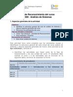 GuiaTarea ReconocimientoCurso 2013-II