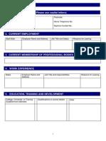 Cas Sample Application Form