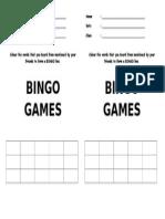 Bingo Worksheets