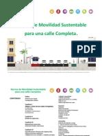 Norma Técnica de Movilidad Sustentable para una Calle Completa