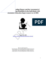 A Guide to Reading Fluency and the Assessment of Specific Learning Disabilities in the Individuals with Disabilities Education Improvement Act of 2004
