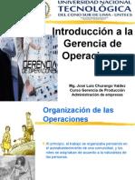 Introdc. a La Gerencia de Operaciones