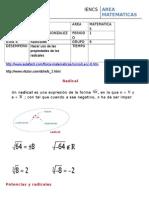 guia 4 radicales   2015 algebra 9