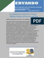 Ampliación Del Fuero Penal Militar en Colombia
