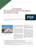 Efectos y Enseñanzas de Terremoto Del 27 de Febrero de 2010 en Chile