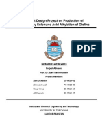A Plant Design Project on Production of Gasoline by Sulphuric Acid Alkylation of Olefins