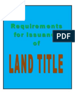 Requirements for Issuance of Land Title