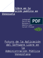 Software Libre en La Administración Pública en Venezuela