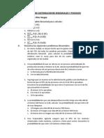 Ejercicios de Distribuciones Binomiales y Poission