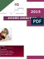 Diseño Didactico 1. Sesion en Grupo