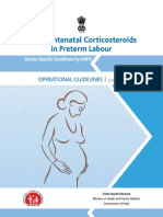 Operational Guidelines-Use of Antenatal Corticosteroids in Preterm Labour
