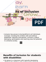 benefits of inclusion!