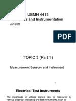Measurement Sensors and Instrument