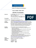 AER622 Outline 2014