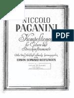 Paganini Nicolo - Centone Di Sonate 6 Sonatas. Scharz-Reigflingen - Guitar Part