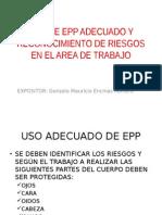 USO DE EPP ADECUADO Y RECONOCIMIENTO DE RIESGOS.pptx