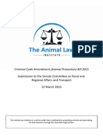 The Animal Law Institute - Submission on Criminal Code Amendment (Animal Protection) Bill 2015