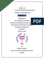 """""""Training & Development in Bharti Axa Life Nsurance"""